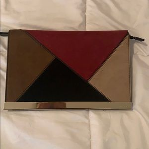 Also Large Suede Clutch